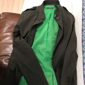 Liz Claiborne dark green blazer, size small.